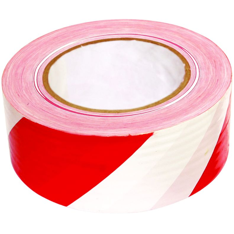 Лента оградительная сигнальная красно-белая